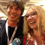 Laura Jade with Professor Brian Cox (Particle physicit and science communicator)