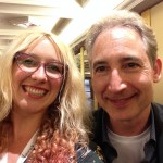 Laura Jade with Professor Brian Greene (Physicist & mathematician within the field of superstring theory)